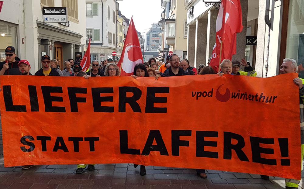 Demo Lifere statt Lafere: VPOD kämpft für anständige Pensionskassenlösung