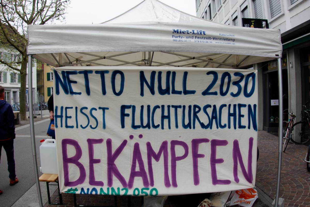 Netto Null 2030 heisst Fluchtursachen Bekämpfen